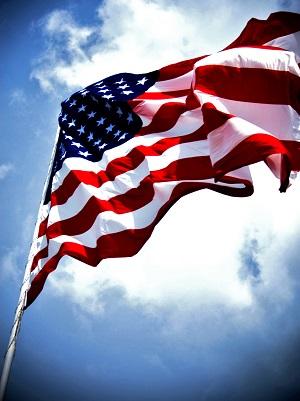 American Flag Flying high